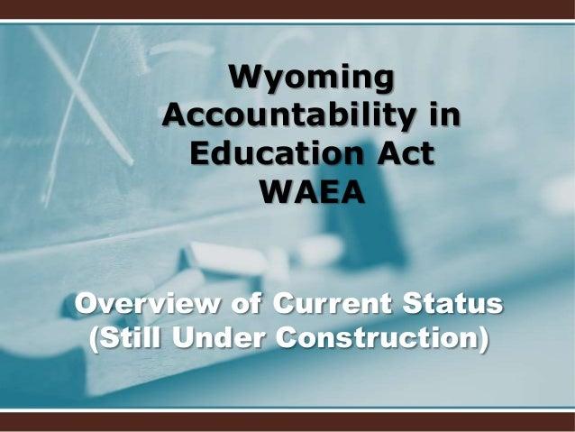Accountability in public education