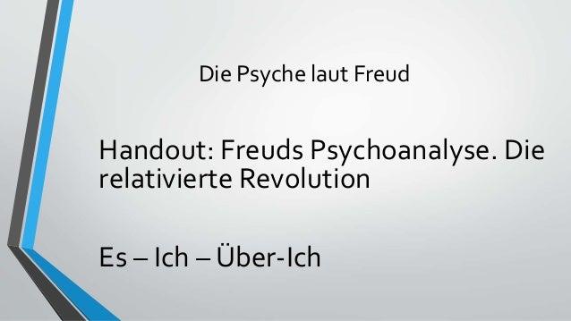 Die Psyche laut Freud Handout: Freuds Psychoanalyse. Die relativierte Revolution Es – Ich – Über-Ich