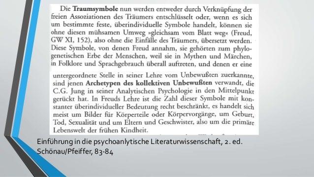 📖 Freud –Träume, 94-103 Einführung in die psychoanlytische Literaturwissenschaft, 2. ed. Schönau/Pfeiffer, 83-84