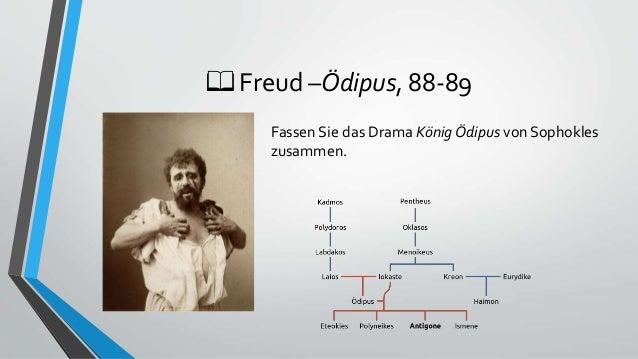 📖 Freud –Ödipus, 88-89 Fassen Sie das Drama König Ödipus von Sophokles zusammen.