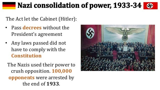 consolidation of nazi power 1933 1934 Nazis in power, author: histmrj, name: nazis in power, length  consolidation of power jan 1933 â  to hitler gained more power after 1934 they later came.