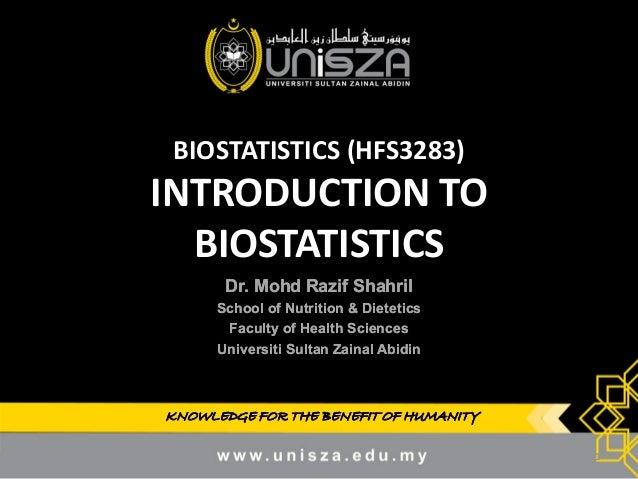 1  Introduction to biostatistics