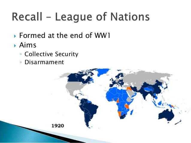 notes aims of the countries ww1 The treaty of versailles: long-term cause of wwii  wilson got league of nations and self-determination for the countries  hitler cam to power with aims in.