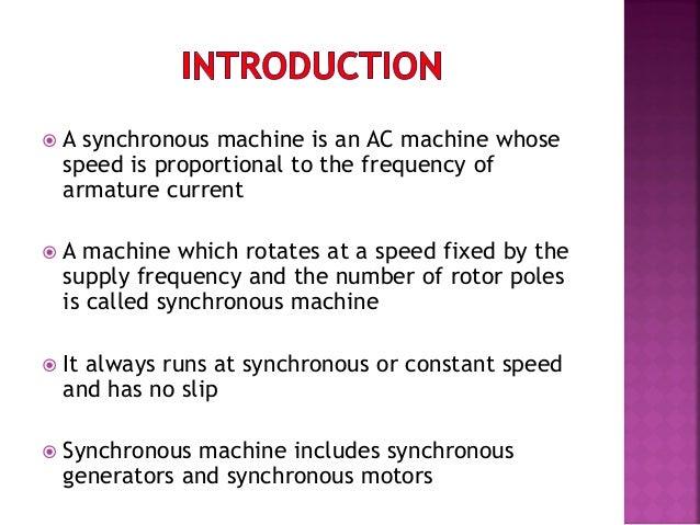 synchronos machines Slide 3