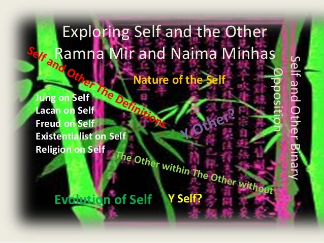 Exploring Self and the Other Ramna Mir and Naima Minhas SelfandOtherBinary Opposition Nature of the Self Y Self?Evolution ...