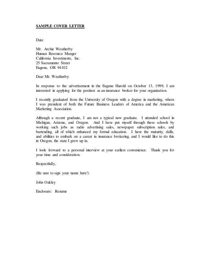 Enclosure Cover Letter. Examples Of Cover Letters Of Resume ...