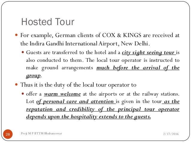 Tour operation management essay