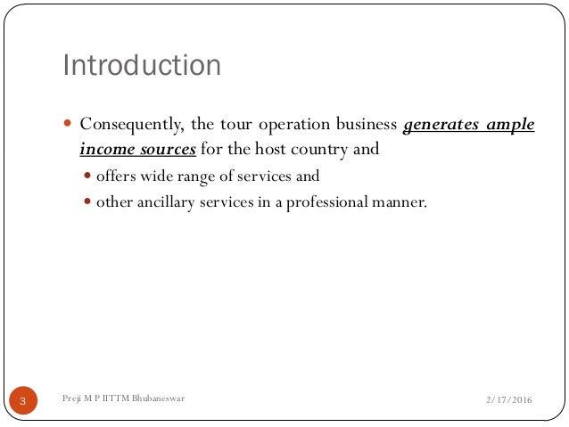 Tour Operations Management. Slide 3