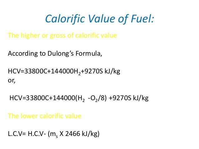 Heating Value Natural Gas Kj Kg