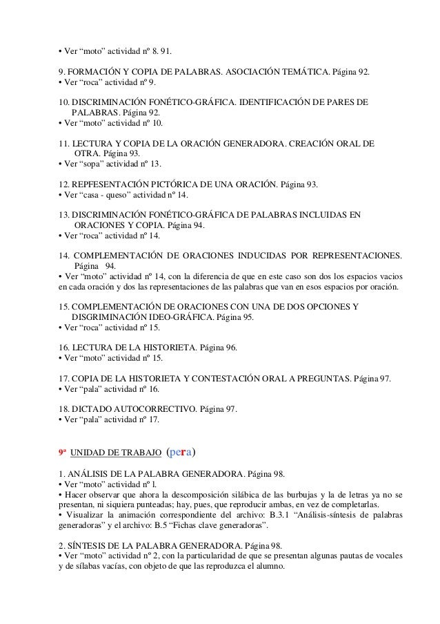 1. actividades propuestas en cada unidad y observaciones