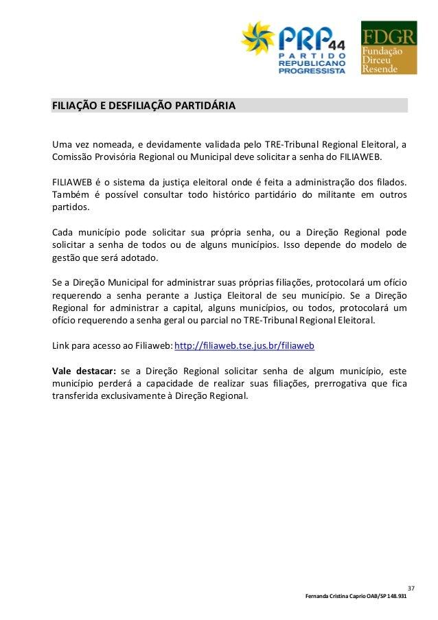 15705e8ef77 CARTILHA DE GESTÃO PARTIDÁRIA