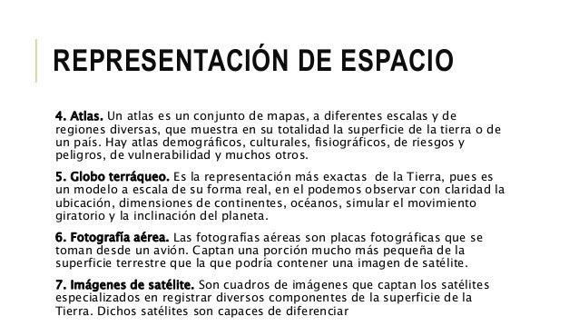 1 elementos y tipos de representaci n del espacio geogr fico - Tipos de espacios ...