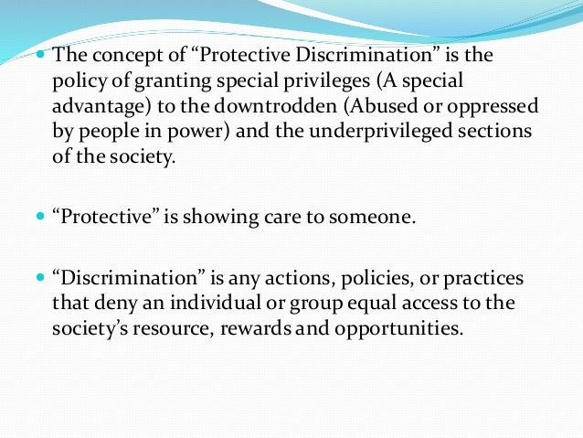 protective discrimination File a complaint without the civil rights discrimination complaint form package if you prefer, you may submit a written complaint in your own format by either.