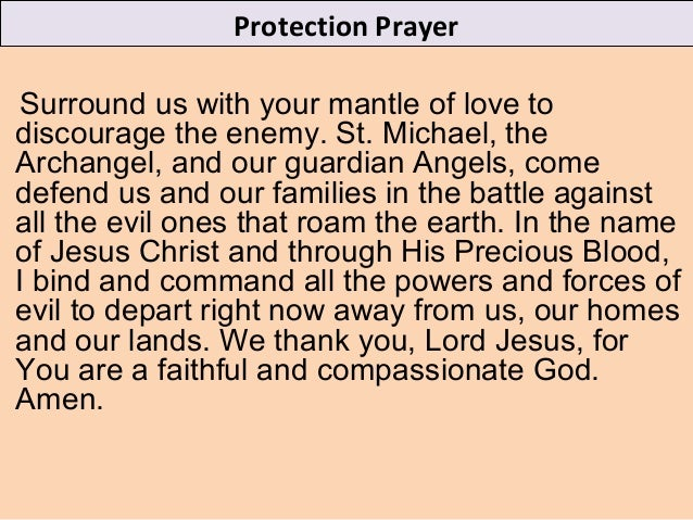1  protection prayer
