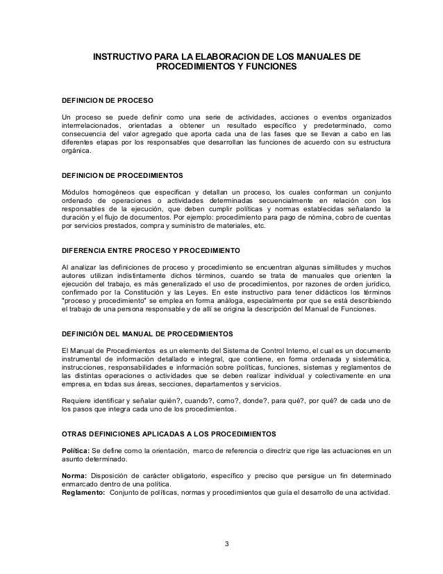1 2 9 instructivo para elaborar manuales de procedimientos for Manual de procedimientos de una empresa de alimentos