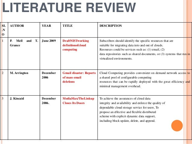 literature review on cloud computing This is a literature survey about security issues and countermeasures on cloud computing this paper discusses about an overview of cloud computing and securit.