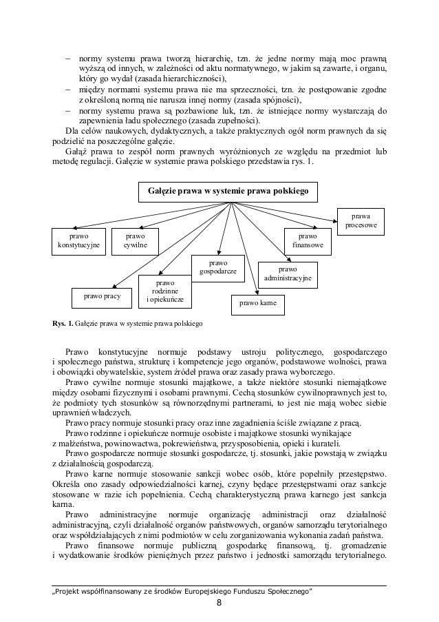 """""""Projekt współfinansowany ze środków Europejskiego Funduszu Społecznego"""" 9 Normuje ponadto organizację i działalność insty..."""
