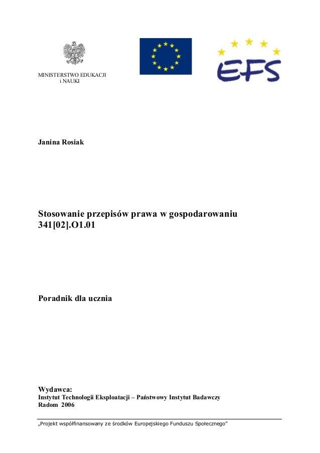 """""""Projekt współfinansowany ze środków Europejskiego Funduszu Społecznego"""" 1 Recenzenci: mgr inż. Aleksandra Grobelna mgr An..."""