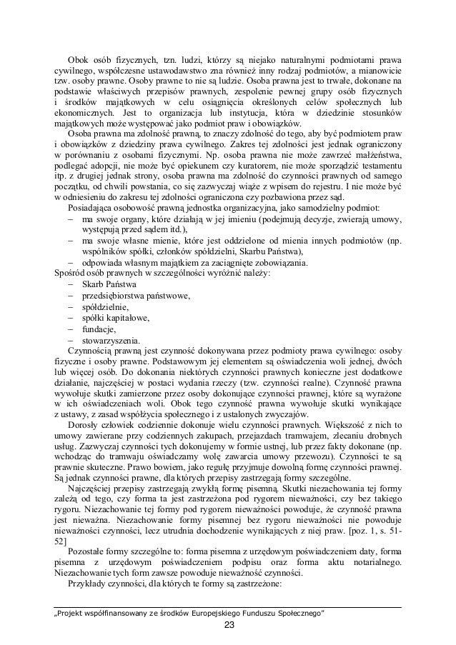 """""""Projekt współfinansowany ze środków Europejskiego Funduszu Społecznego"""" 24 − ustanowienie zastawu na prawie (forma pisemn..."""