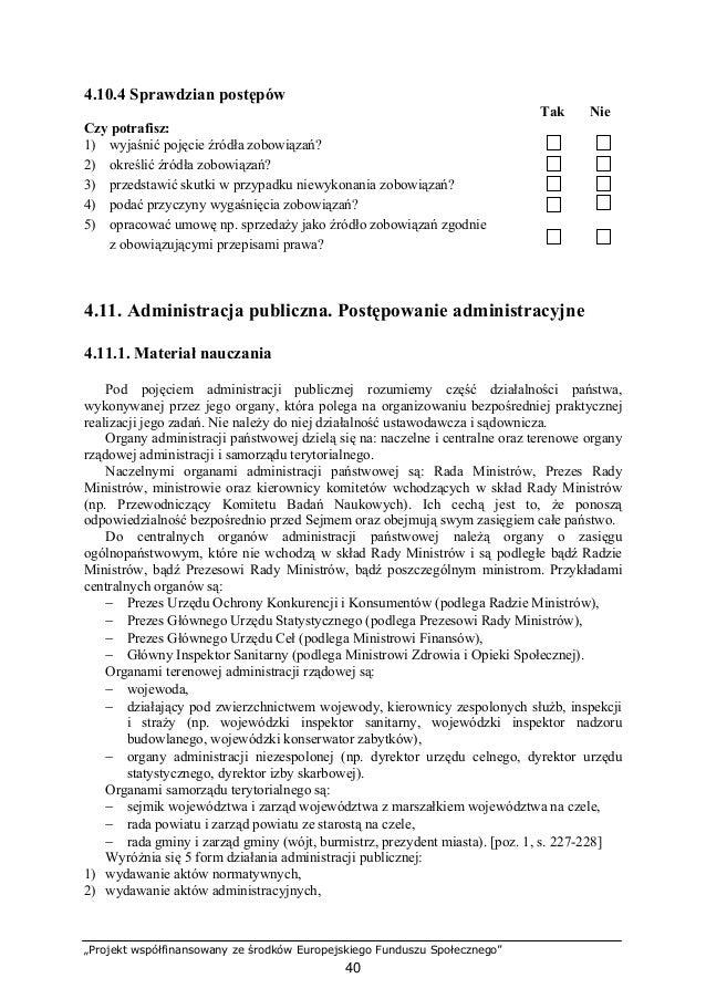 1. Stosowanie przepisów prawa w gospodarowaniu
