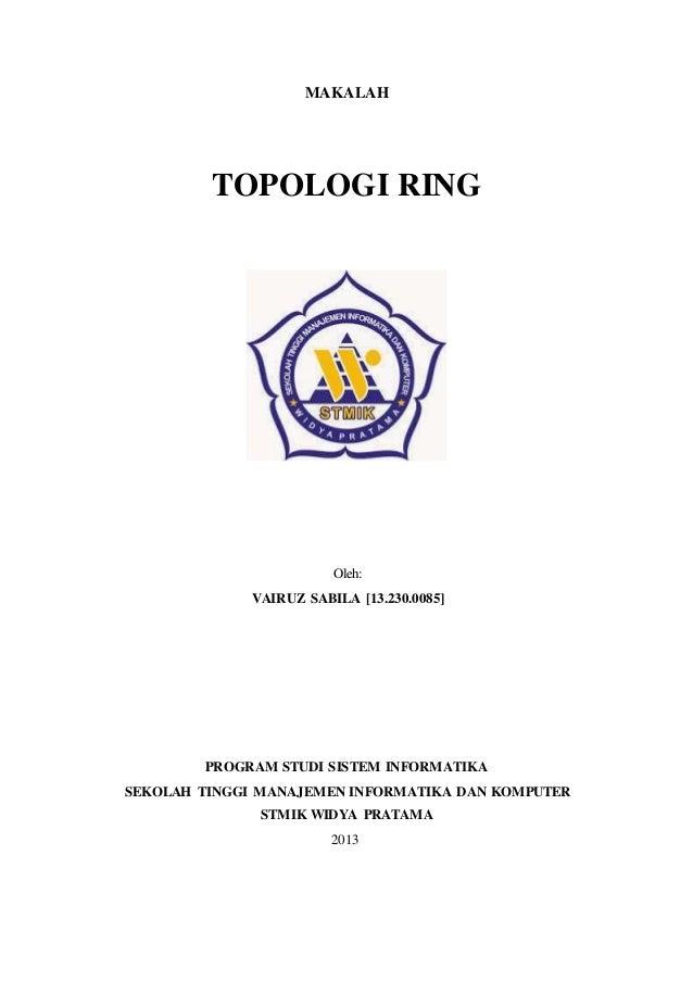 1 Makalah Topologi Ring Oleh