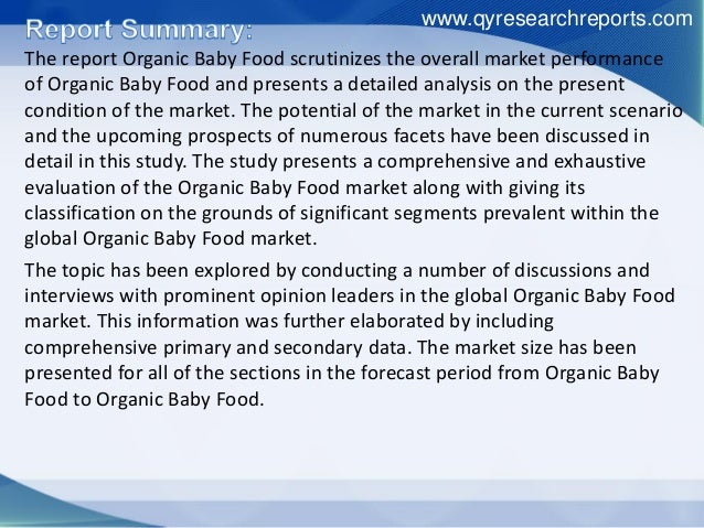 Organic Baby Food Trends