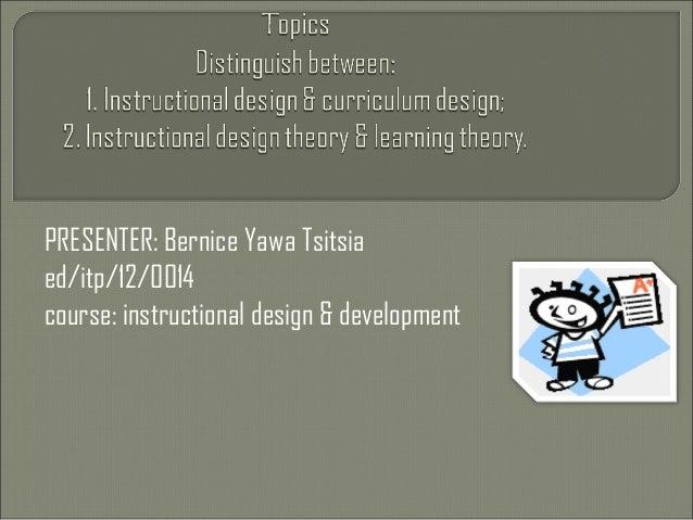 1 Instructional Design Amp Curriculum Design