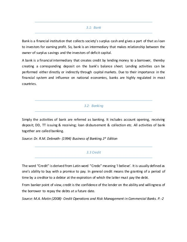 General Banking Activities of Mercantile Bank Limited