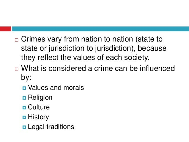 What is crime?