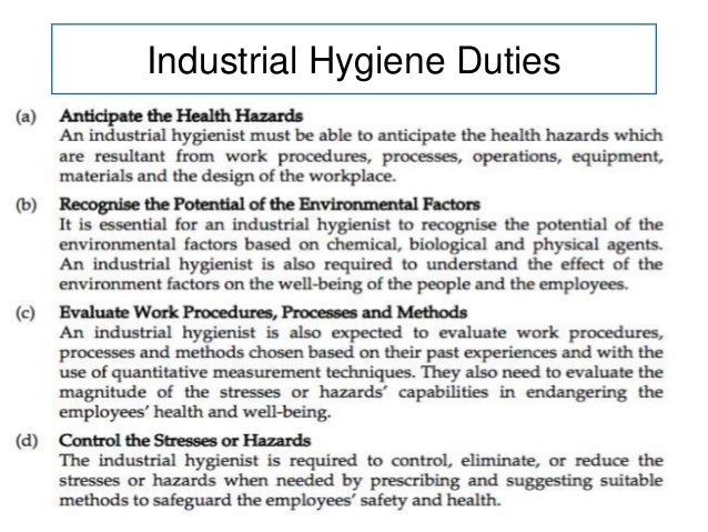 principles of occupational hygiene Basic principles in occupational hygiene day 2 10 - ventilation general ventilation local exhaust ventilation (lev) systems source: adrian hirst general features of an lev system.