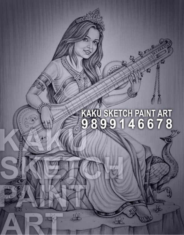 Pencil sketch artist in delhi kaku sketch paint art 9899146678