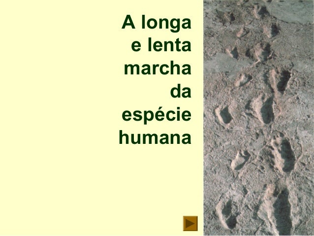 A longa e lenta marcha da espécie humana