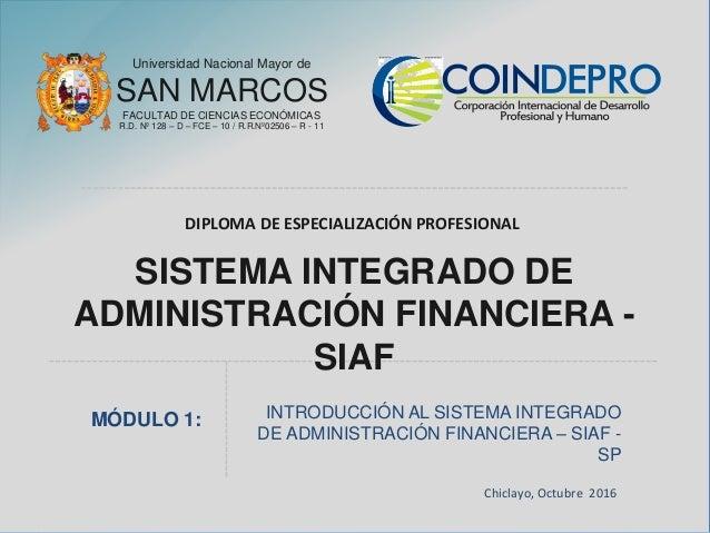Universidad Nacional Mayor de SAN MARCOS FACULTAD DE CIENCIAS ECONÓMICAS R.D. Nº 128 – D – FCE – 10 / R.R.Nº02506 – R - 11...