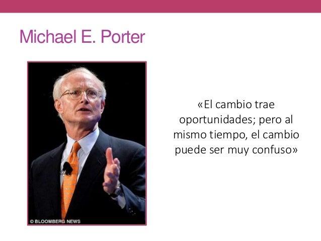 Michael E. Porter «El cambio trae oportunidades; pero al mismo tiempo, el cambio puede ser muy confuso»
