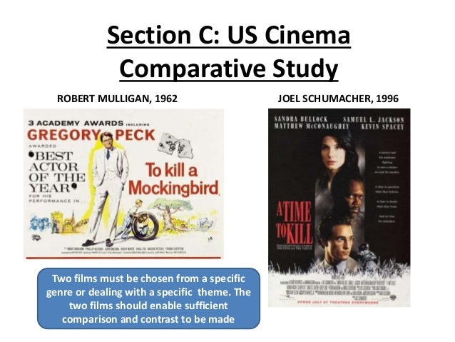 Section C: US Cinema Comparative Study ROBERT MULLIGAN, 1962 JOEL SCHUMACHER, 1996 Two films must be chosen from a specifi...