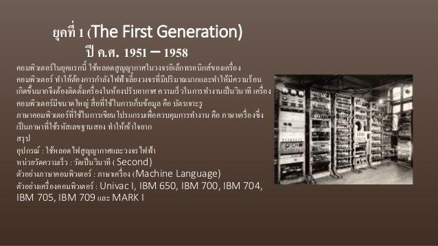 วิวัฒนาการของคอมพิวเตอร์1