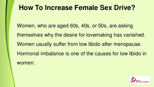 How to increase woman sex drive