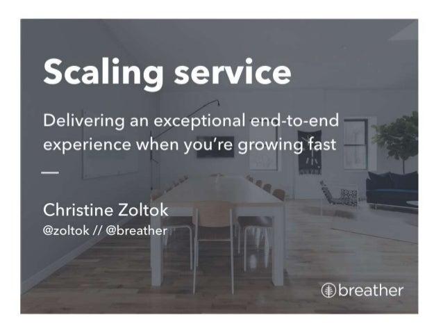 Scaling Service Design - Christine Zoltok