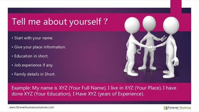 3 start with your - Your Dream Job Tell Me About Your Dream Job