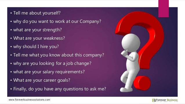 ... 2. U2022 Tell Me About Yourself? U2022 Why Do You Want To Work At Our Company?