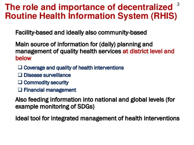 Strengthening Routine Health Information Systems through Regional Networks Slide 3