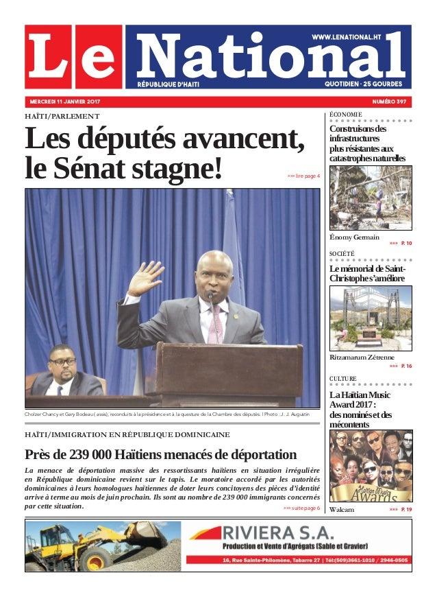HAÏTI/IMMIGRATION EN RÉPUBLIQUE DOMINICAINE Près de 239 000 Haïtiens menacés de déportation La menace de déportation massi...