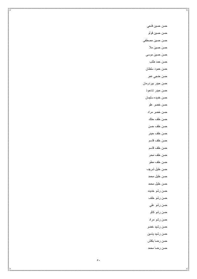 51 فتحي حسين حسن قولو حسين حسن مصطفى حسين حسن مال حسين حسن موسى حسين حسن طلب حمد حسن ...