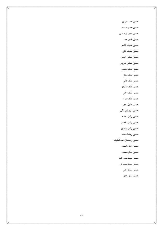 55 عبدي حمد حسين محمد حميد حسين اوصمان خدر حسين حمد خدر حسين قاسم خديده حسين كلي خديده ...