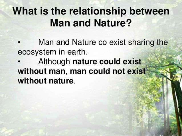 relationship between man nature and architecture