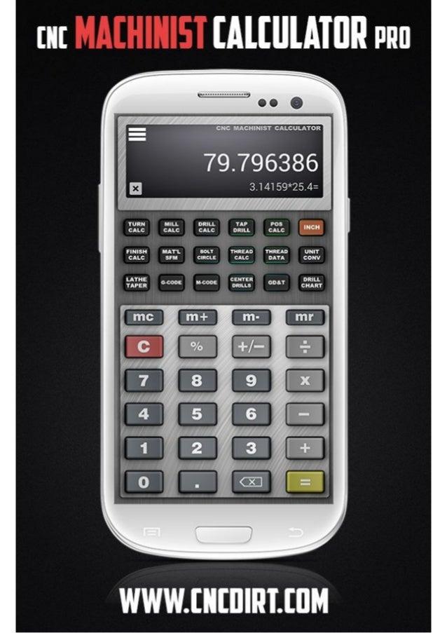 CNC Machinist Calculator