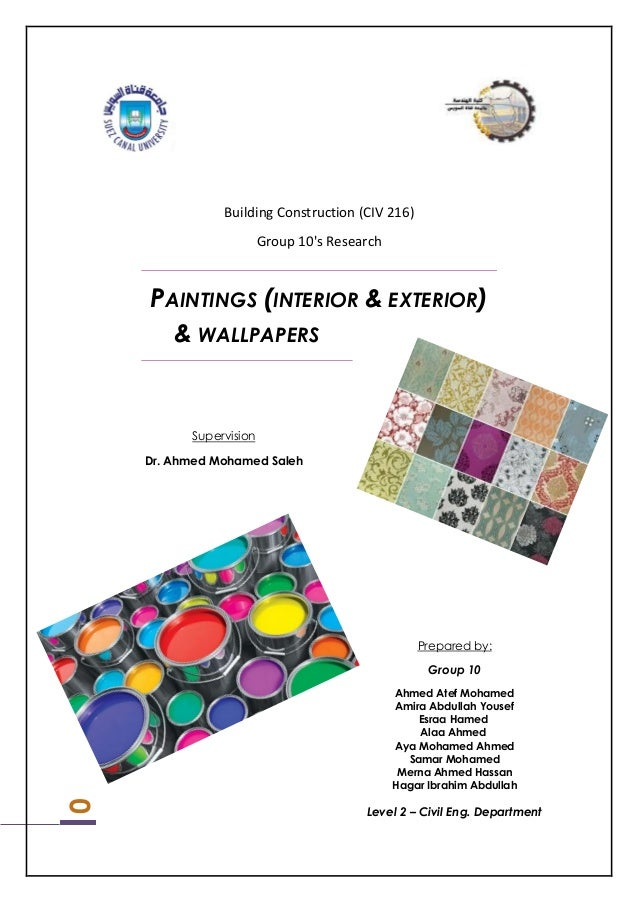 Paintings Exterior Interior And Wall Papers
