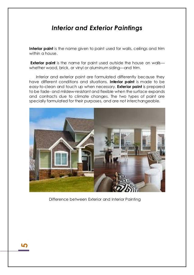 difference between exterior interior paint. 6. 5 interior and exterior paintings paint difference between e