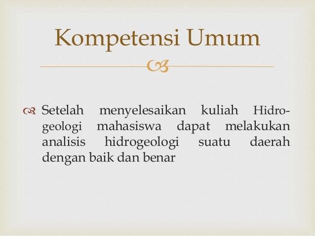 MATERI 1 HIDROGEOLOGI (Manajemen Pertambangan & Energi) STEM Akamigas Slide 3
