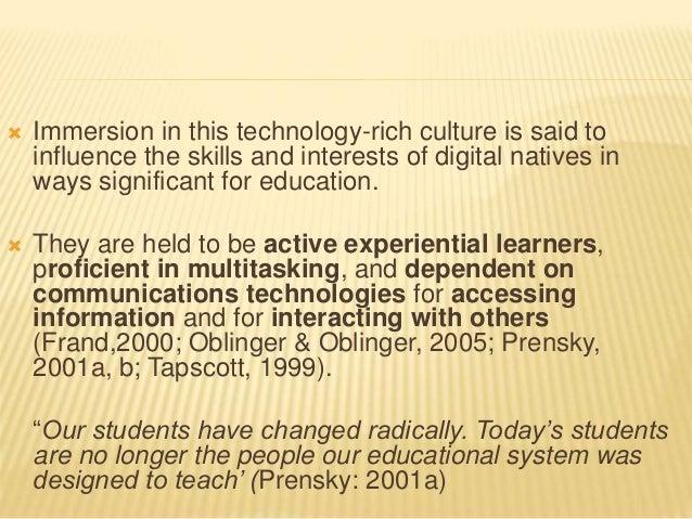digital natives debate Informationen und links zum text 'the 'digital natives' debate' in beats biblionetz.